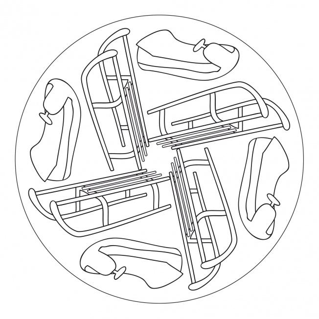 Schlitten-Mandala