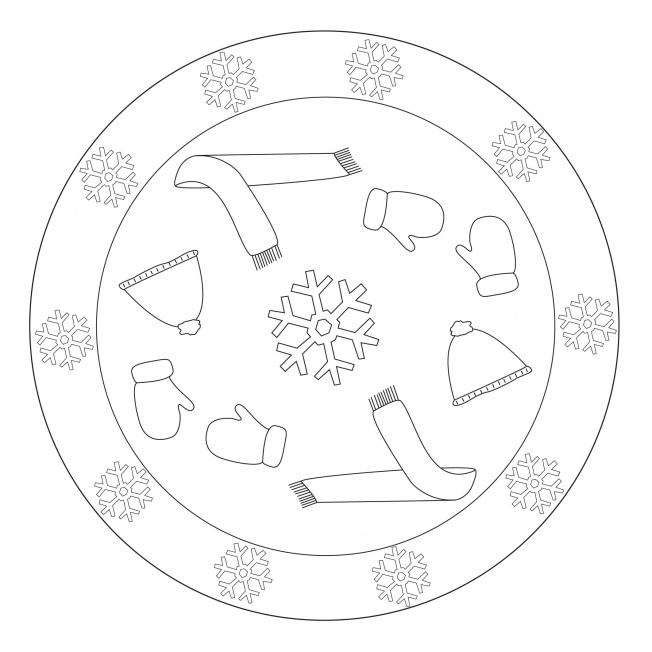 Winterkleidung-Mandala