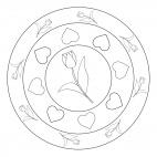Tulpen-Mandala
