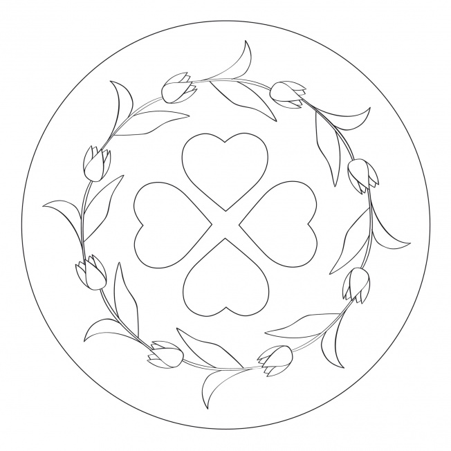 tulip wreath mandala for pre