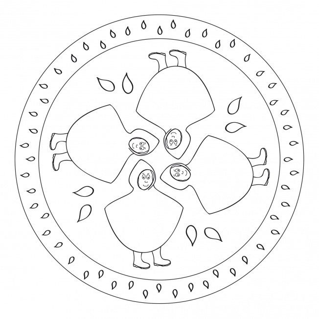 Regen-Mandala 3