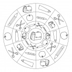Schulbeginn-Mandala 2