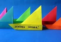 Faltvorlage: Segelschiff