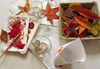 Herbstliche Tischlichter aus Papiertüten