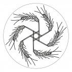 Herbst-Mandala mit Getreideähren