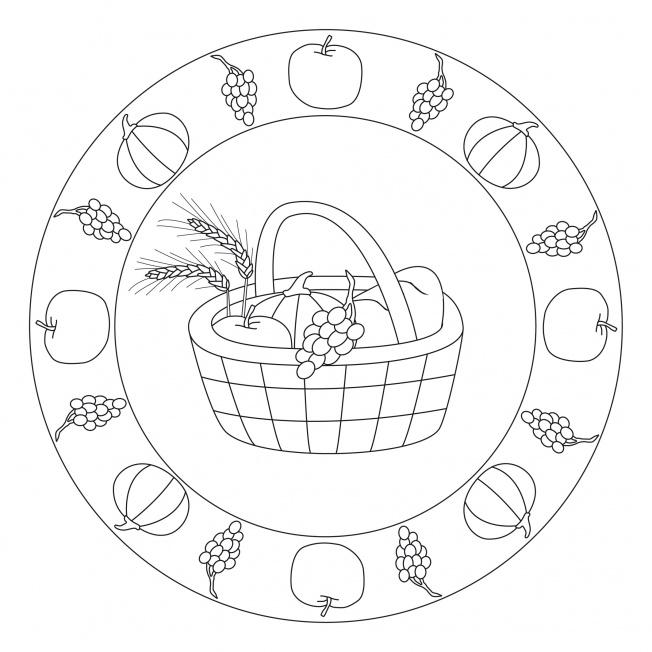 Atemberaubend Erntedankfest-Mandala für Kindergarten, KiTa und Schule &JQ_68