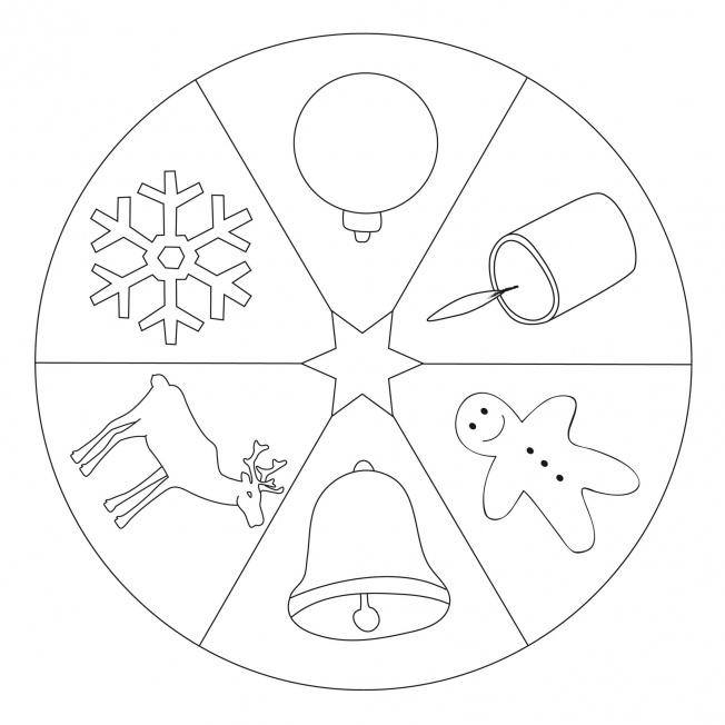 christmas mandala for pre k kindergarten and elementary. Black Bedroom Furniture Sets. Home Design Ideas