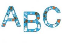 Lettere da colorare - Inverno
