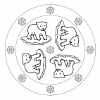 Eisbär-Mandala