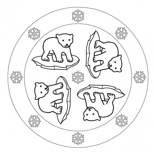Eisbar-Mandala