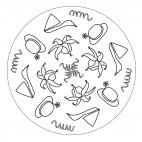 Faschingshüte-Mandala