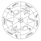 Faschingshüte-Mandala 1