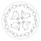 Küken-Mandala 5