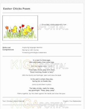 Easter Chicks Poem