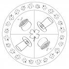 St. Patrick´s Day-Mandala