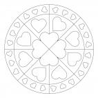 Herz-Mandala für Muttertag