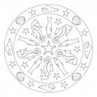 Summer Mandala with Sea Creatures
