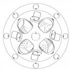 Rucksack-Mandala für Kindergartenbeginn