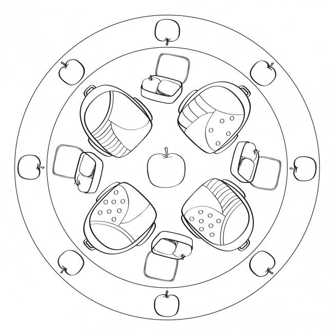 Rucksack-Mandala