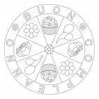 Mandala di compleanno con fiori