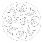 Al parco - un mandala con aquiloni, foglie e molto altro