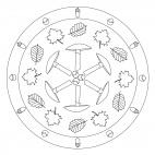Herbst - Mandala mit Pilzen