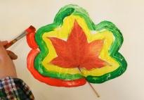 Blätter-Bilder: Blattformen malen