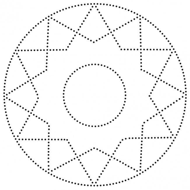 Punkt-Mandala-Stern