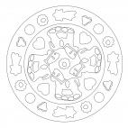 Weihnachtsgebäck-Mandala
