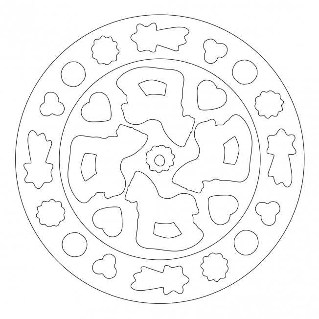 Weihnachtsgebäck-Mandala 2