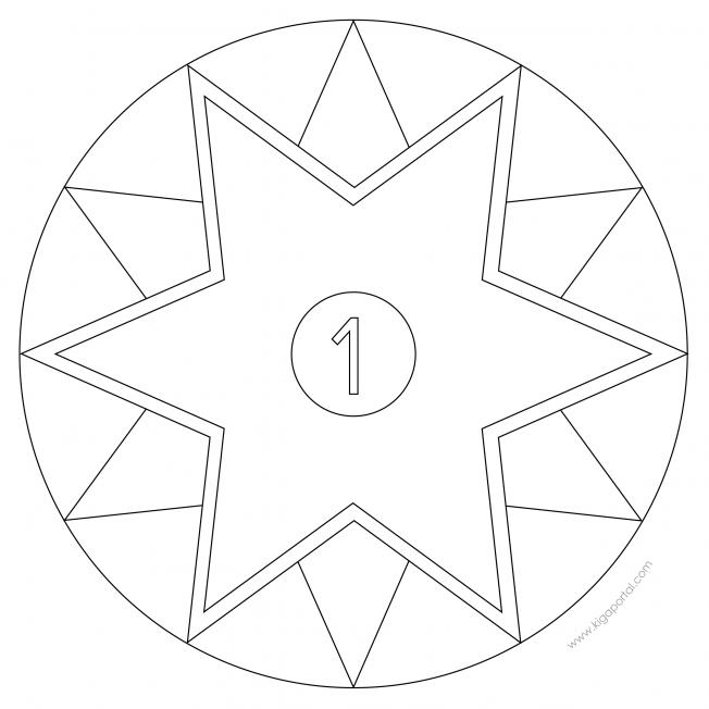 Sterne-Adventskalender 1