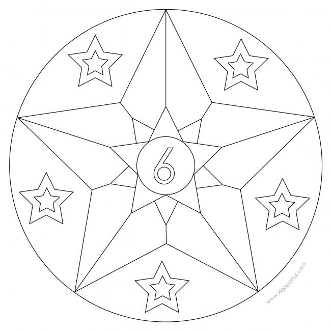 Sterne-Adventskalender 6