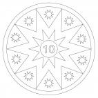 Stelle - calendario dell'avvento 10
