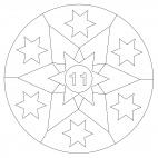 Stelle - calendario dell'avvento 11