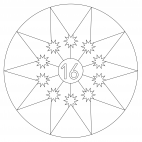 Sterne-Adventskalender 16