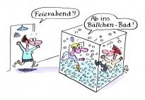 Feierabend - ein Erzieherinnen Cartoon von Renate Alf