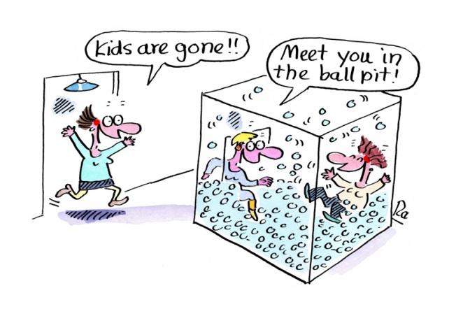 Preschool_KiGaPortal_Cartoons_Renate Alf_Ball Pit