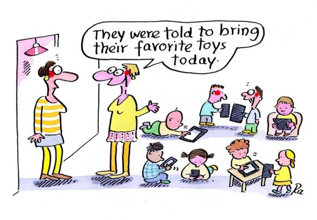 Preschool_KiGaPortal_Cartoons_Renate Alf_Show-and-Tell