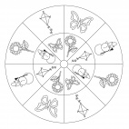 Season Wheel Mandala (16 parts)