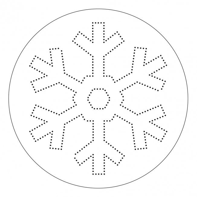 Punkt-Mandala-Schneekristall