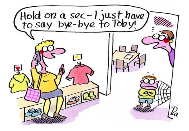 Kigaportal_preschool_Cartoon_Renate Alf_Handy