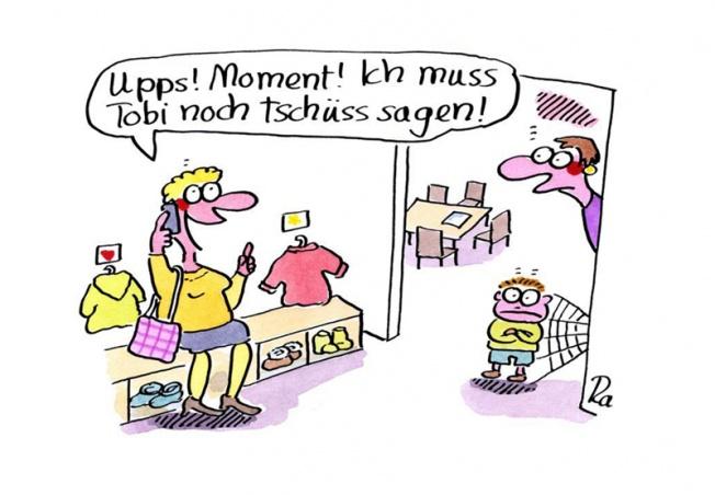 Kindergarten_KiGaPortal_Cartoon_Renate Alf_Handy