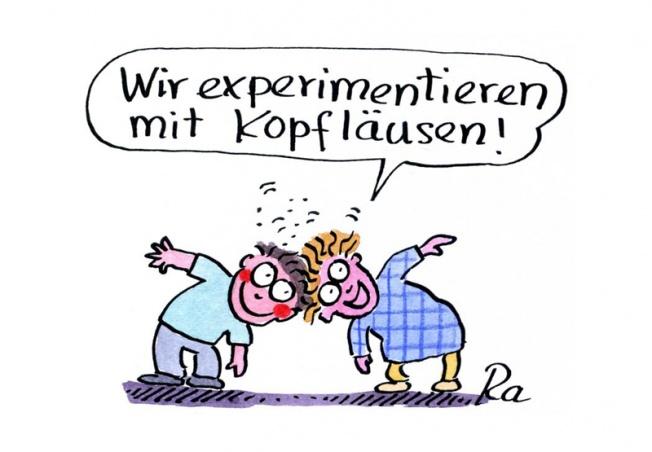 Kindergarten_KiGaPortal_Cartoon_Renate Alf_Kopfläuse