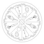 Oster-Mandala mit Ostergras
