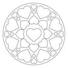 Herz-Mandala 7