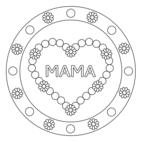Herz-Mandala 10 mit Text