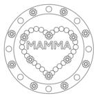 Mandala festa della mamma: cuori 10 con testo