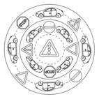 Verkehrszeichen-Mandala